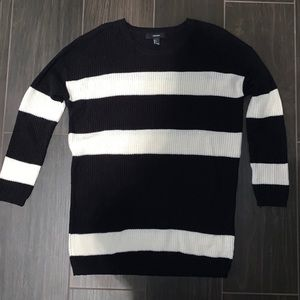Black and white striped sweater forever 21